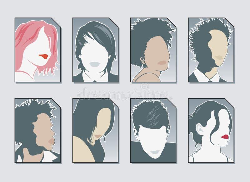 Vetor dos ícones do usuário ilustração do vetor