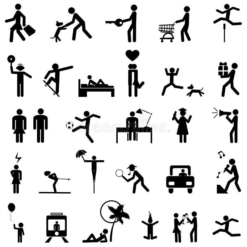 Vetor dos ícones dos povos