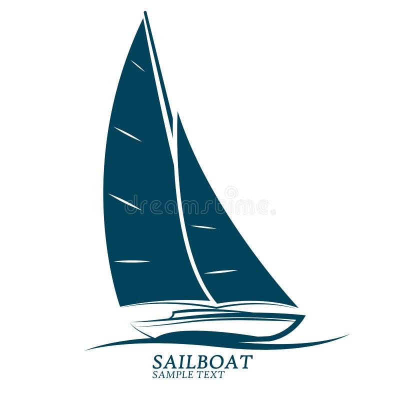 Vetor dos barcos de navigação ilustração royalty free