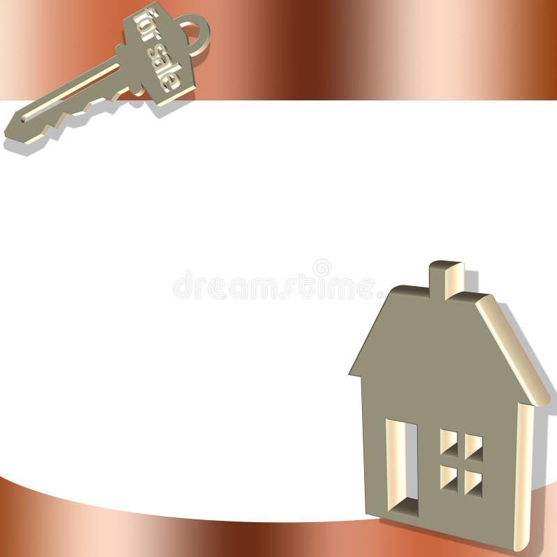 Vetor dos bens imobiliários ilustração do vetor