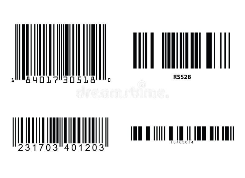 Vetor dos códigos de barras ilustração royalty free
