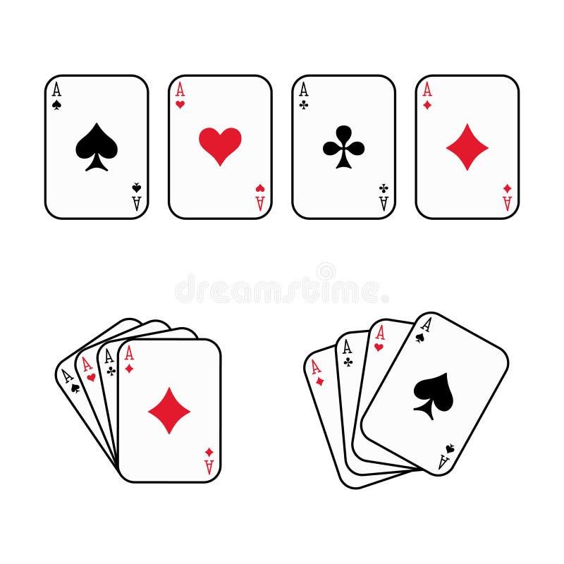 Vetor dos cartões de jogo foto de stock royalty free