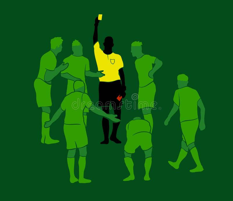 Vetor dos cartões vermelhos do amarelo do árbitro do futebol ilustração stock