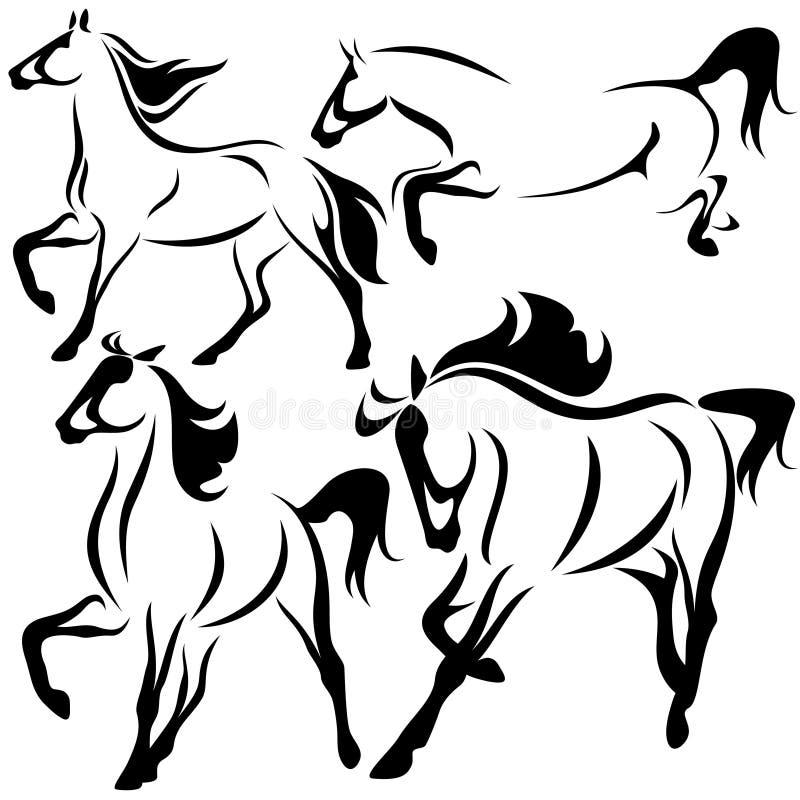 Vetor dos cavalos ilustração stock