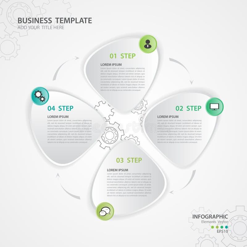 Vetor dos elementos de Infographic para o negócio, ícone da Web, apresentação, corrediça, carta, diagrama, vetor do gráfico ilustração stock