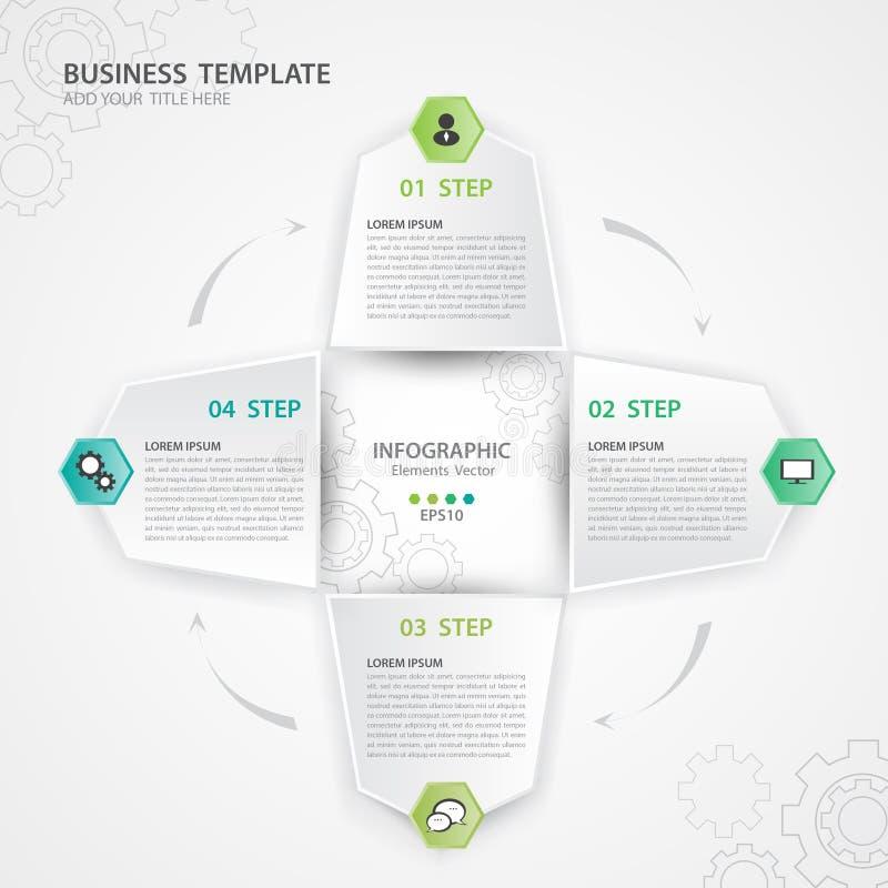 Vetor dos elementos de Infographic para o negócio, ícone da Web, apresentação, diagrama, o espaço temporal, corrediça, carta, grá ilustração stock