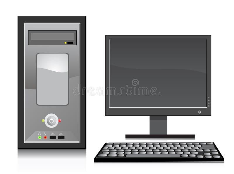 Vetor dos elementos do computador ilustração royalty free