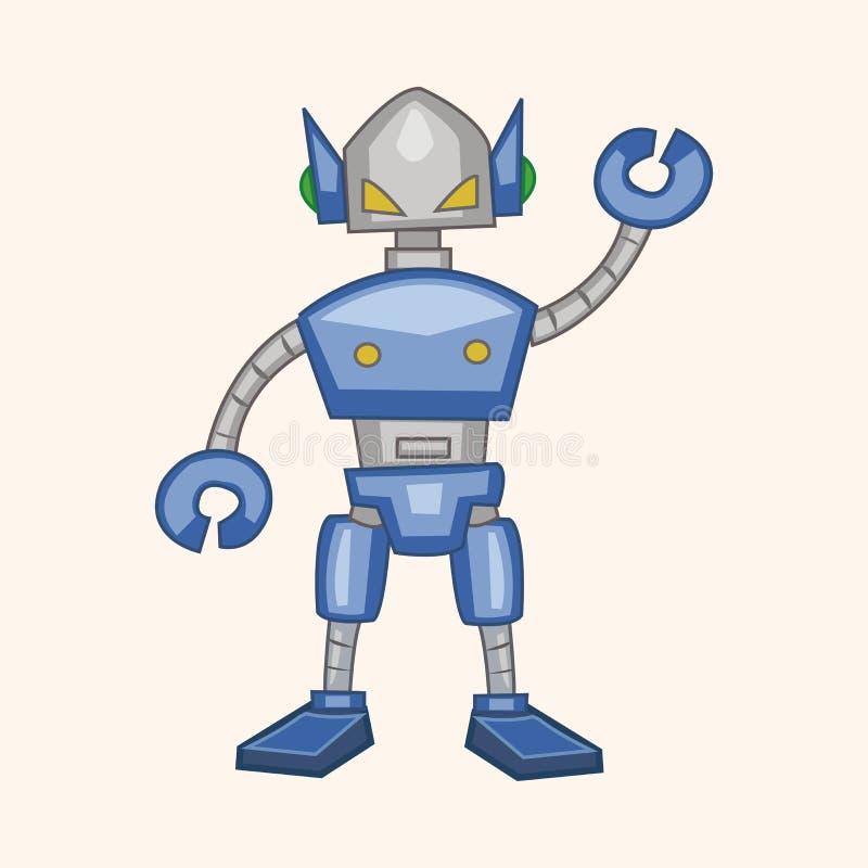 Vetor dos elementos do tema do robô, eps ilustração do vetor