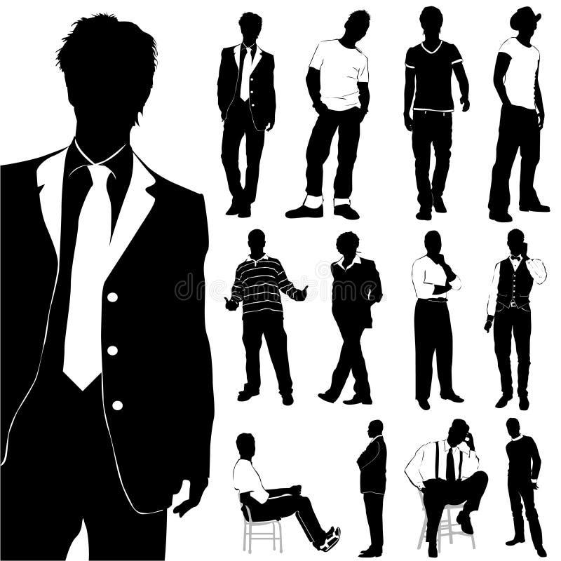 Vetor dos homens da forma ilustração royalty free