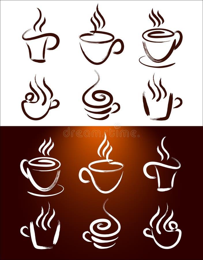 Vetor dos logotipos do café ilustração do vetor