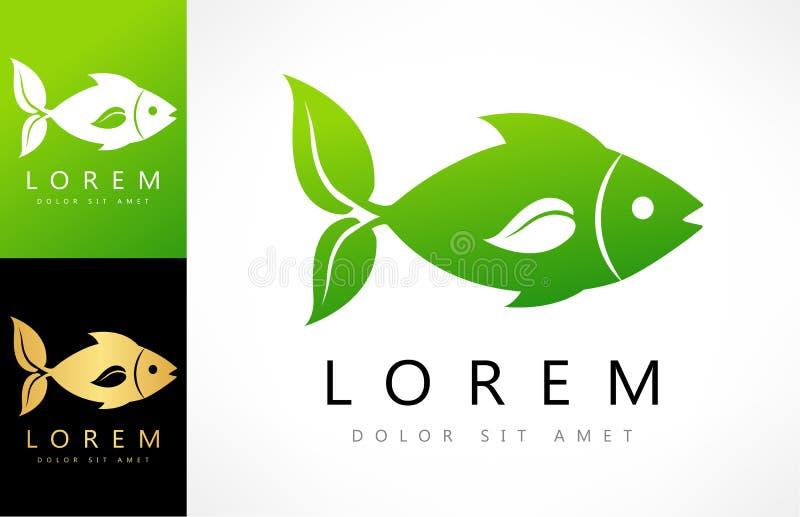 Vetor dos peixes folha das aletas ilustração royalty free