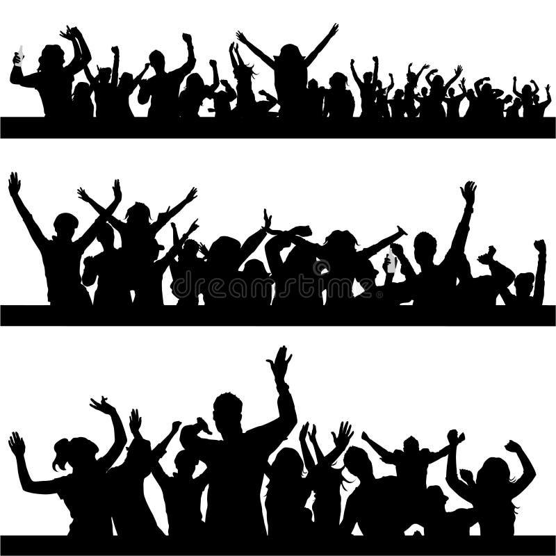 Vetor dos povos do partido ilustração royalty free