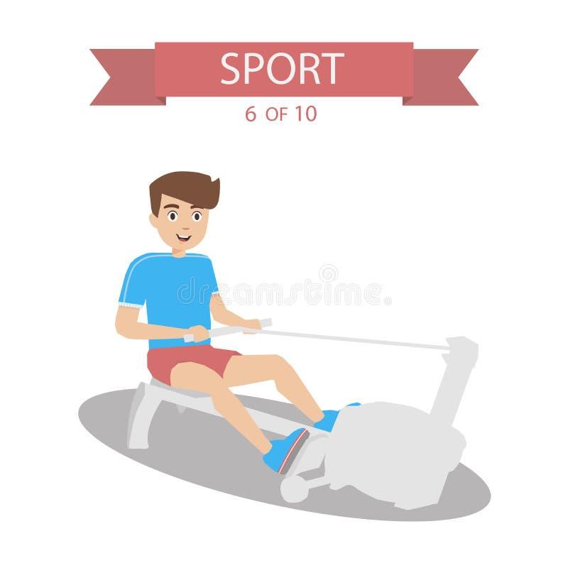 Vetor dos povos dos esportes ilustração do vetor