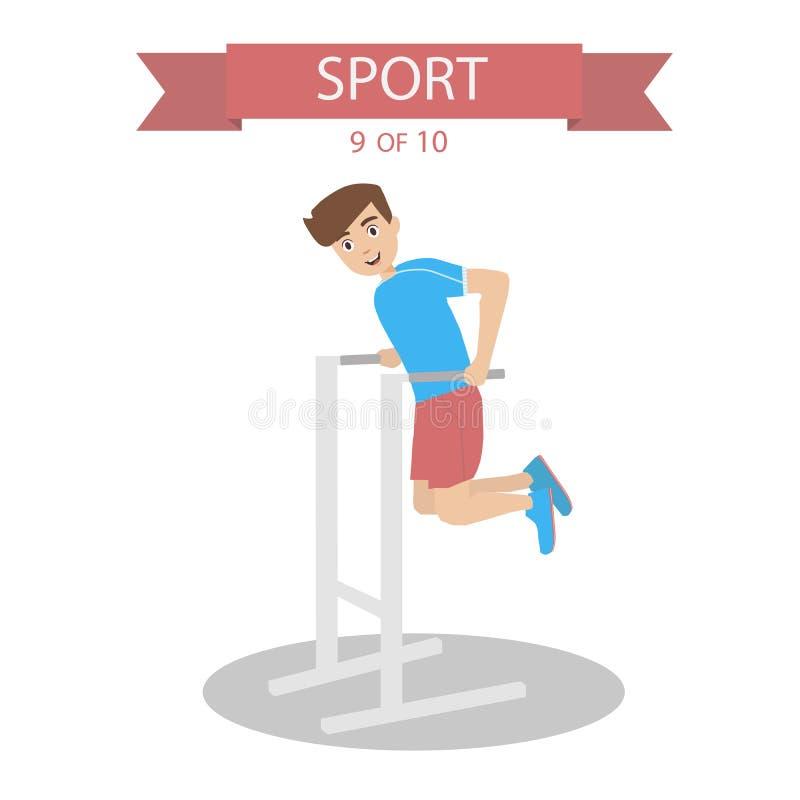 Vetor dos povos dos esportes ilustração stock