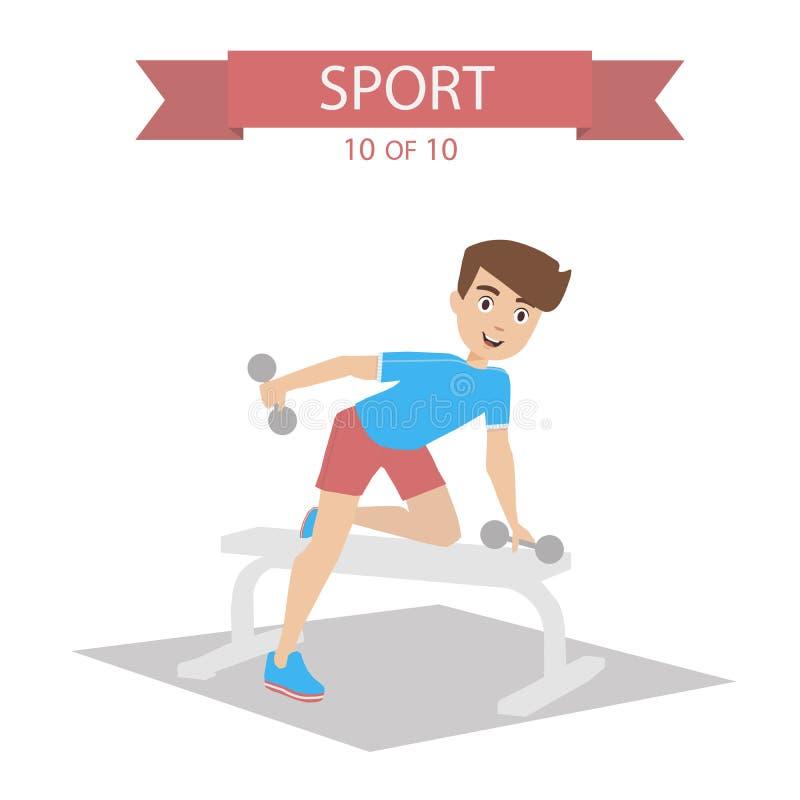 Vetor dos povos dos esportes ilustração royalty free