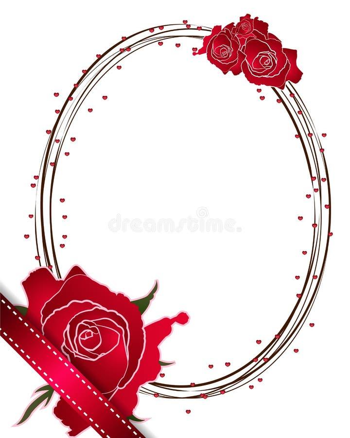 Vetor dos projetos de cartão da rosa do vermelho no fundo branco ilustração do vetor