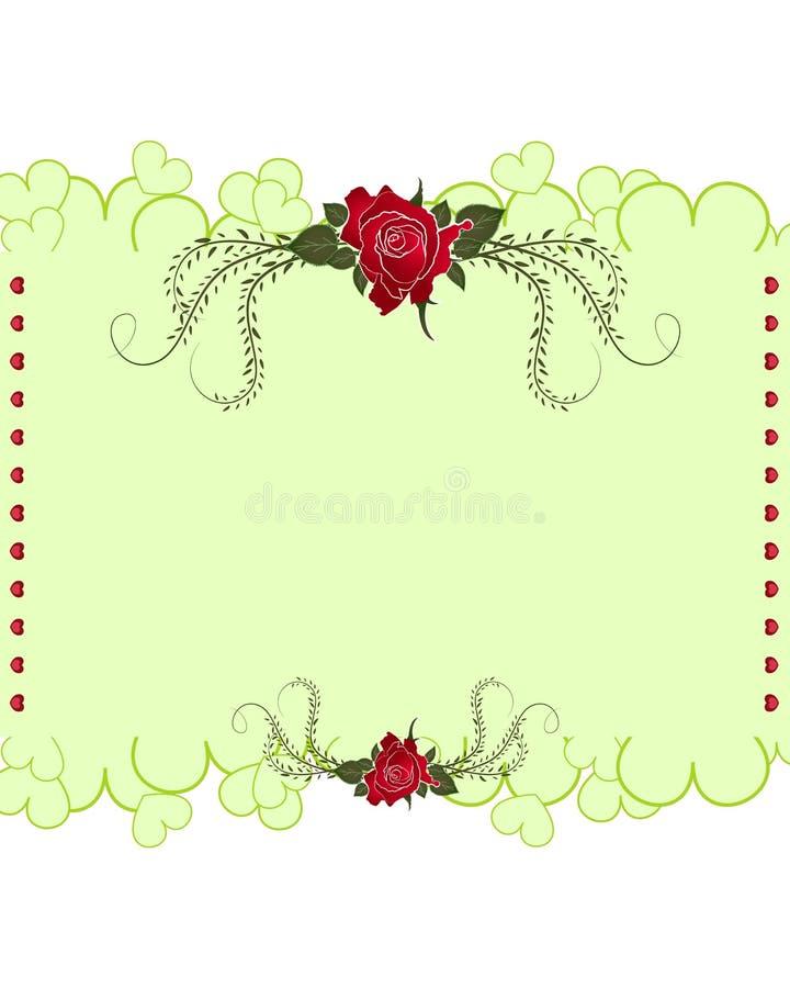 Vetor dos projetos de cartão de Rosa no fundo branco ilustração royalty free