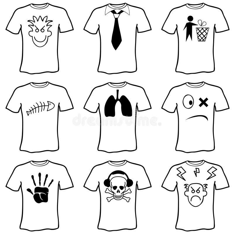 Vetor dos t-shirt da emoção ilustração do vetor
