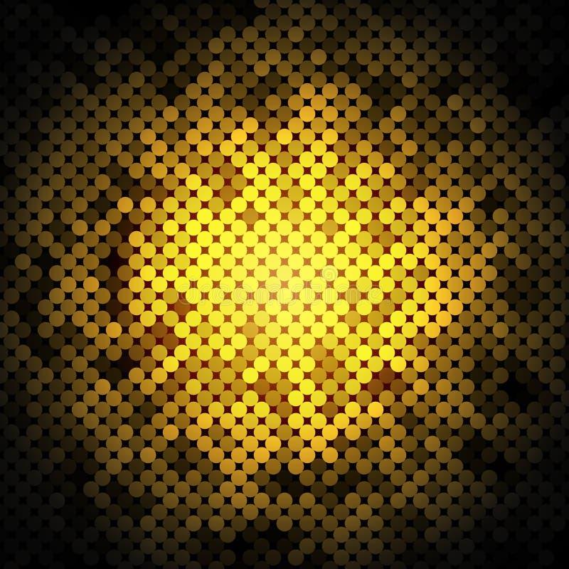 Vetor dourado abstrato do fundo dos pontos ilustração do vetor