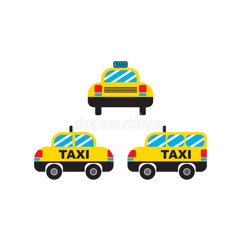 Vetor e ícone do táxi do carro do transporte do táxi para o App e o Web site ilustração stock