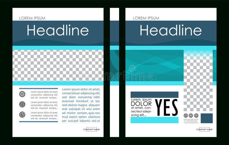 Vetor editável Molde f do projeto da disposição da capa do livro do negócio A4 ilustração royalty free