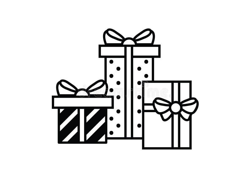 Vetor editável resizable completo do ícone dos presentes do Natal ilustração do vetor