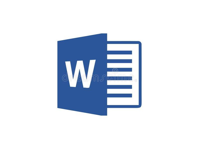 Vetor editorial de Microsoft Word ilustração do vetor