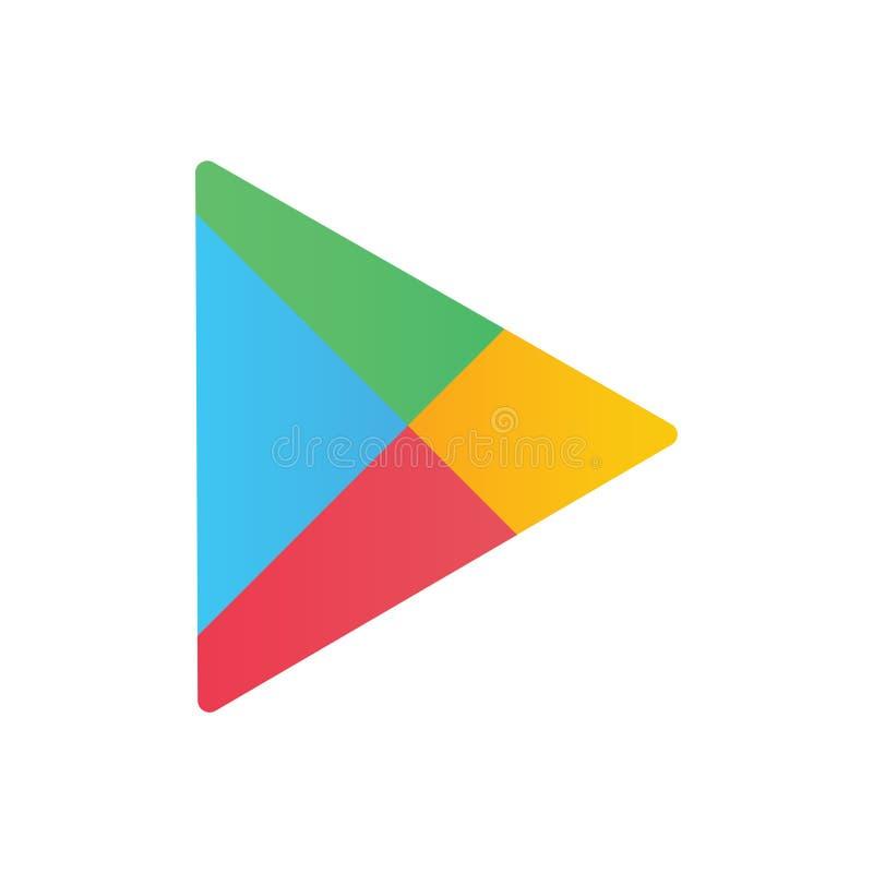 Vetor editorial do logotipo de Google Play ilustração royalty free
