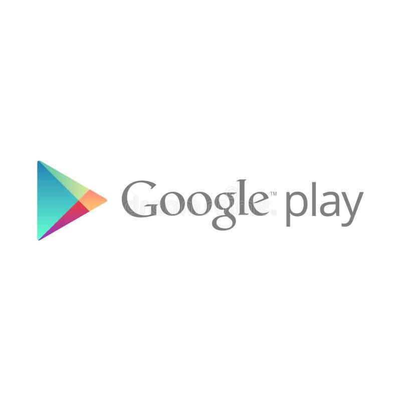 Vetor editorial do logotipo de Google Play ilustração stock