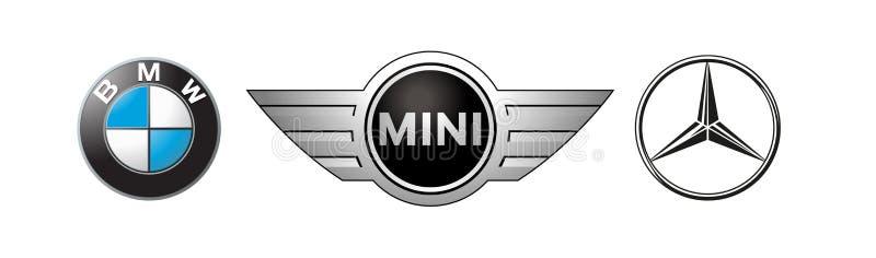 Vetor editorial dos logotipos do carro ilustração do vetor