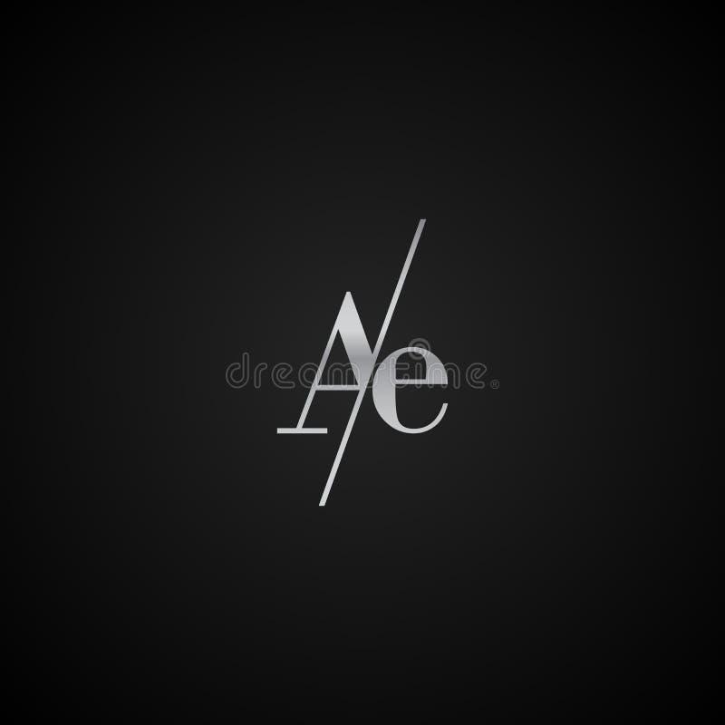 Vetor elegante original moderno do molde do logotipo da letra inicial da AE criativo ilustração do vetor