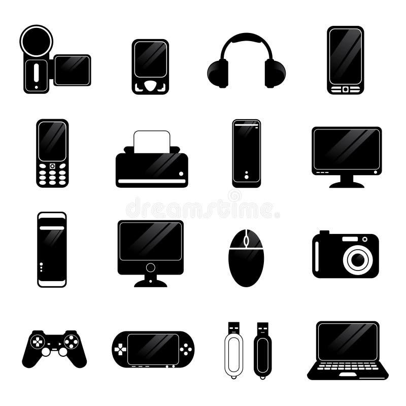 Vetor eletrônico dos ícones ilustração royalty free