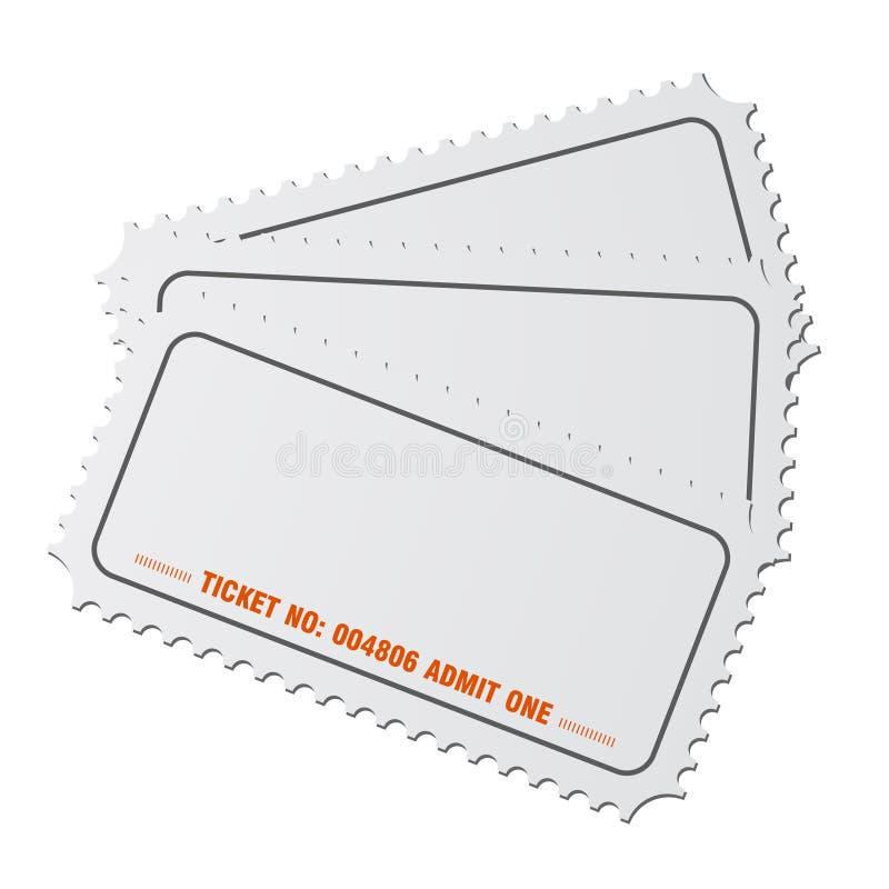 Vetor em branco dos bilhetes ilustração stock