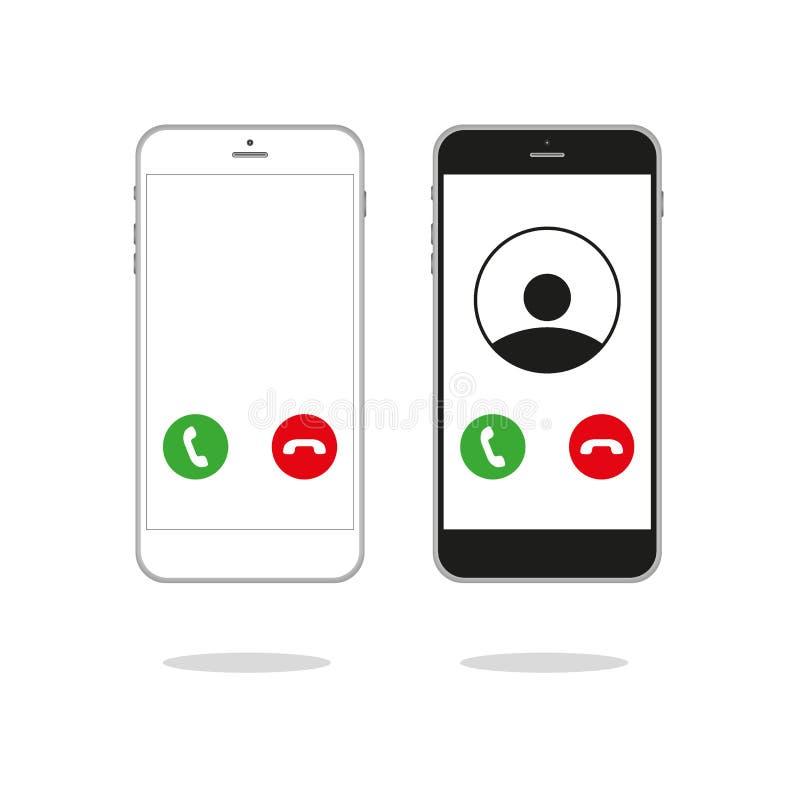 Vetor entrante genérico da interface de usuário UI da tela do telefonema ilustração stock