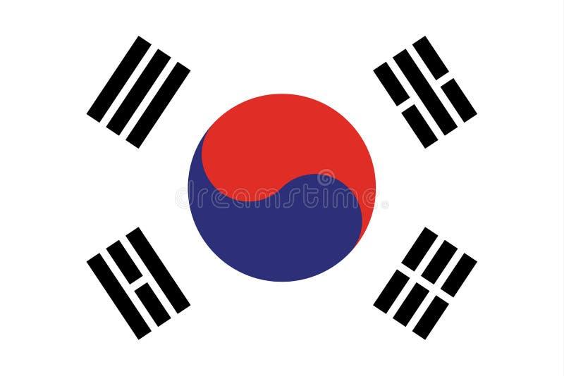 Vetor eps10 da bandeira de Coreia do Sul Bandeira de Coreia do Sul Bandeira de Coreia do Sul feita com cores nacionais coreanas o ilustração stock