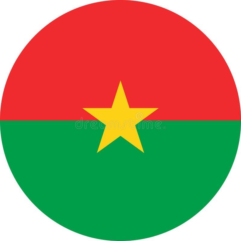 Vetor eps da ilustração da bandeira de Burkina Faso ilustração royalty free