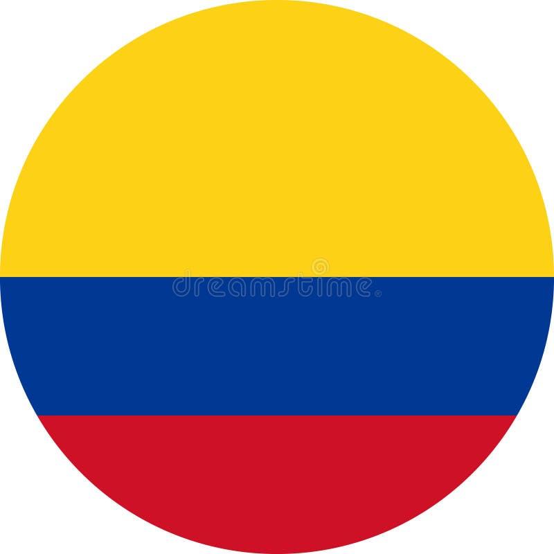 Vetor eps da ilustração da bandeira de Colômbia ilustração royalty free