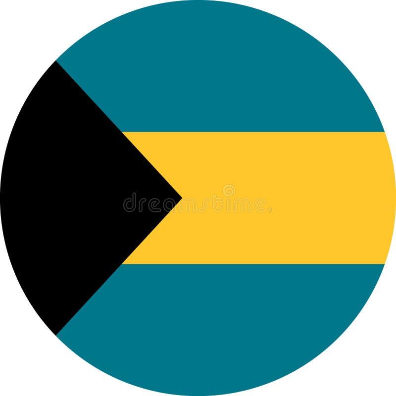 Vetor eps da ilustração da bandeira do Bahamas ilustração do vetor