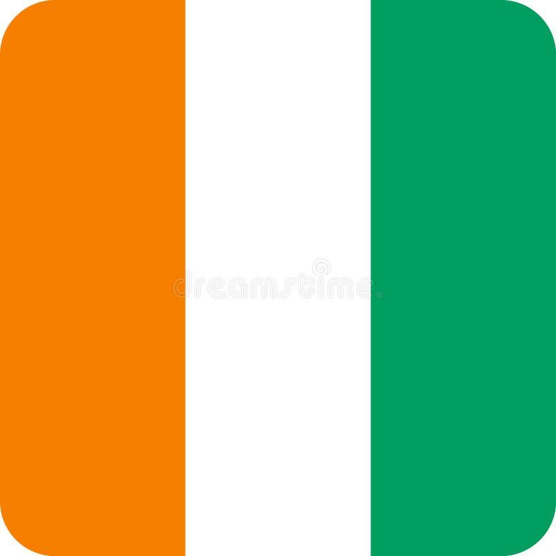Vetor eps da ilustração de África da bandeira da costa d 'Ivoire ilustração do vetor
