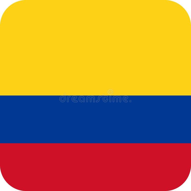 Vetor eps da ilustração de Colômbia da bandeira ilustração do vetor