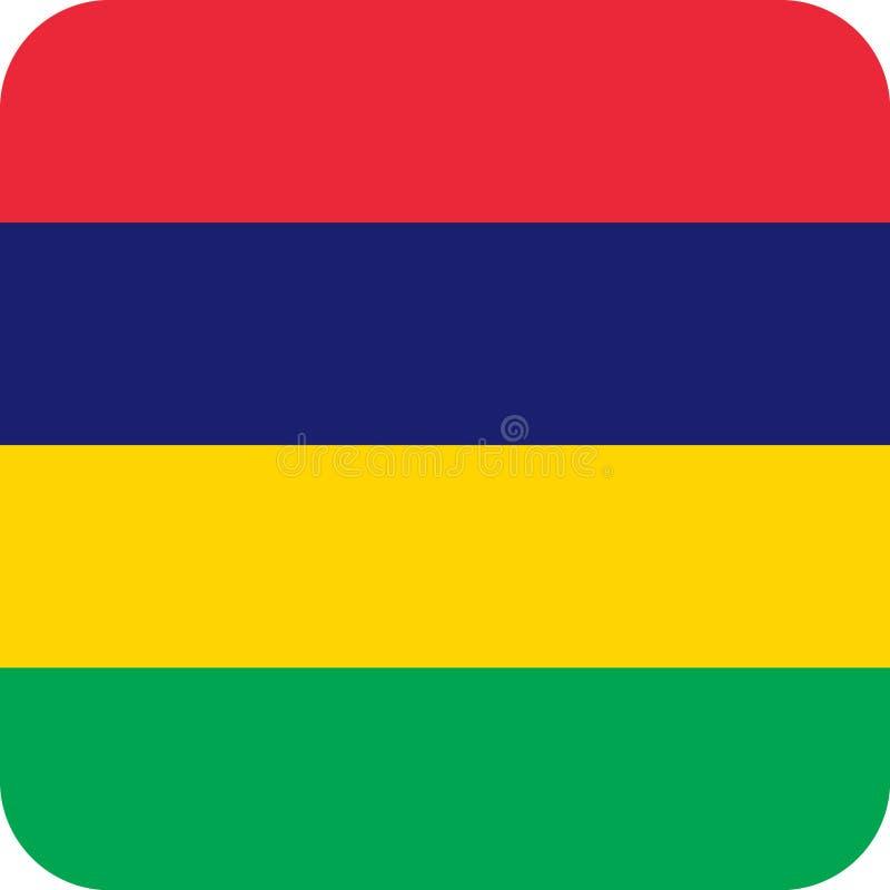 Vetor eps da ilustração de Mauritius Africa da bandeira ilustração do vetor