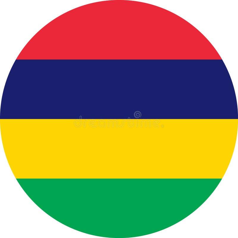 Vetor eps da ilustração de Mauritius Flag Africa ilustração royalty free