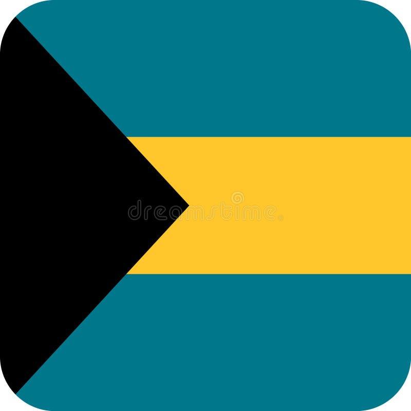 Vetor eps da ilustração do Bahamas da bandeira ilustração royalty free