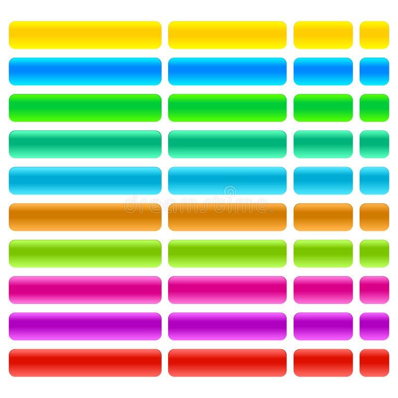 Vetor eps da ilustração dos botões da Web do vidro e do gel ilustração royalty free