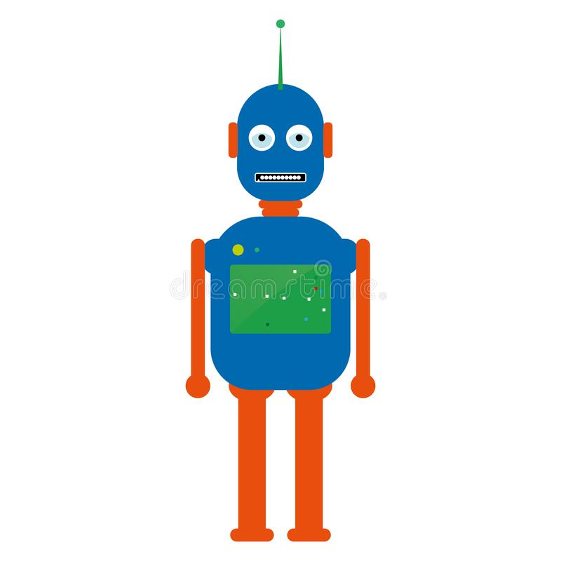 Vetor eps10 do robô Robô do vintage do moderno Robô retro Robô do vintage ilustração stock