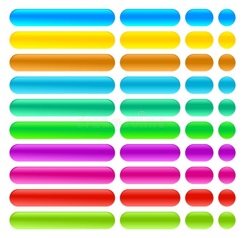 Vetor eps novo da ilustração de cor dos ícones dos botões da Web ilustração royalty free