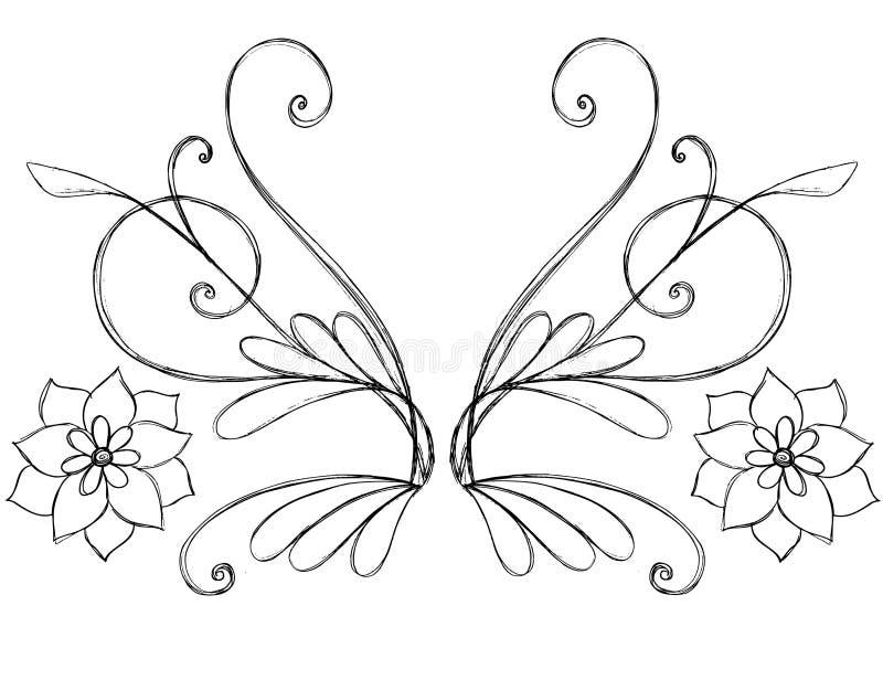 Vetor esboçado do rolo do Doodle ilustração royalty free