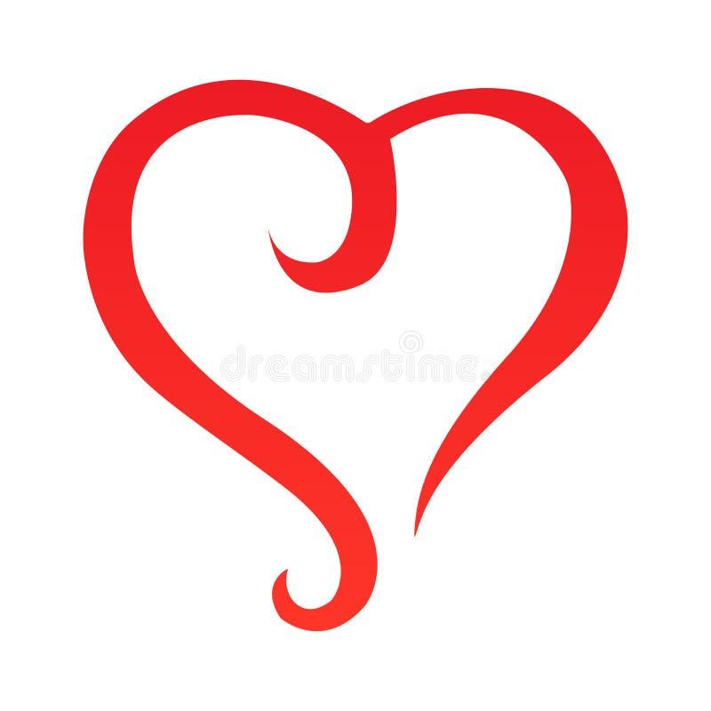 Vetor - esboço abstrato da forma do coração Projeto original ilustração royalty free