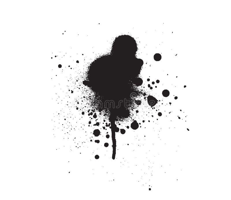 Vetor espirrado da gota da mancha ilustração do vetor