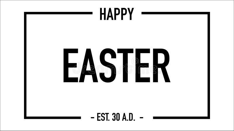 Vetor estabelecido da data de easter cartão feliz ilustração royalty free